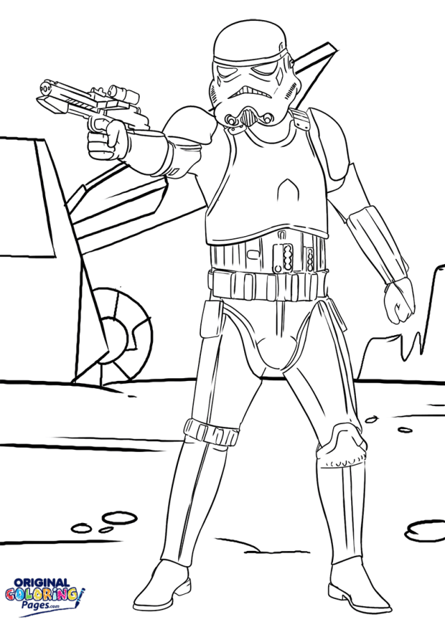 Storm Trooper Star Wars Coloring Page  Coloring Pages - Original