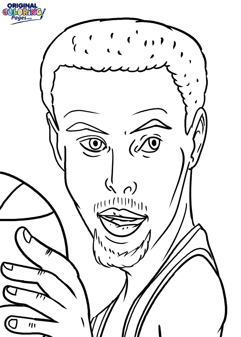 Stephen Curry Coloring Page – Coloring Pages