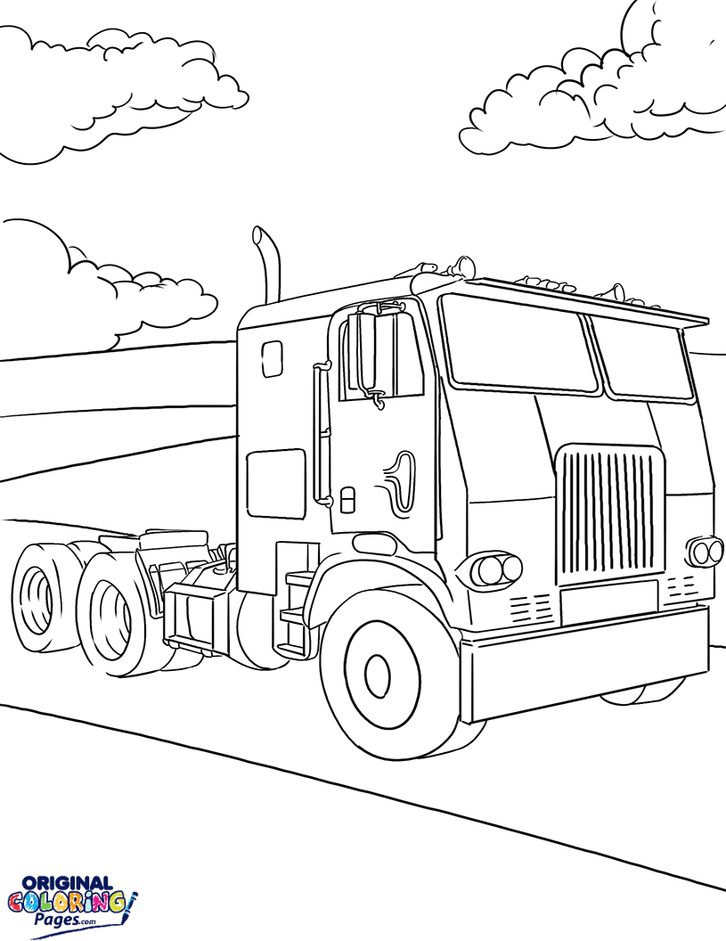Trucks – Coloring Pages