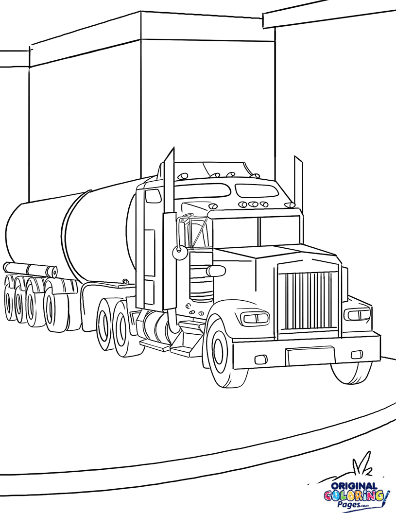 Gasoline Truck Coloring Page – Coloring Pages