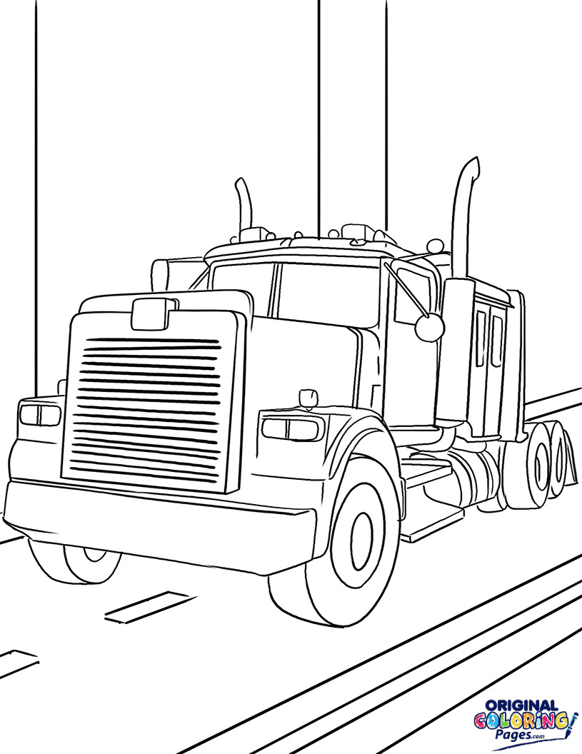 Massive Tractor Truck Coloring Page