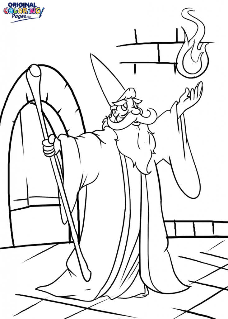 Wizard Spell Coloring Page – Coloring Pages