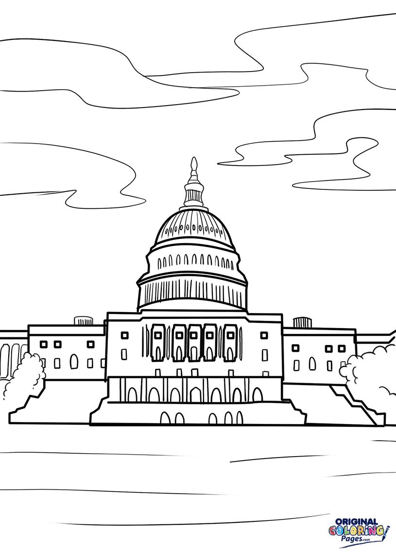 Capital Building Coloring Page – Coloring Pages