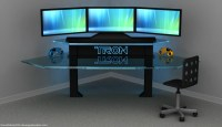 TRON Gaming Desk  Dave's Geeky Ideas