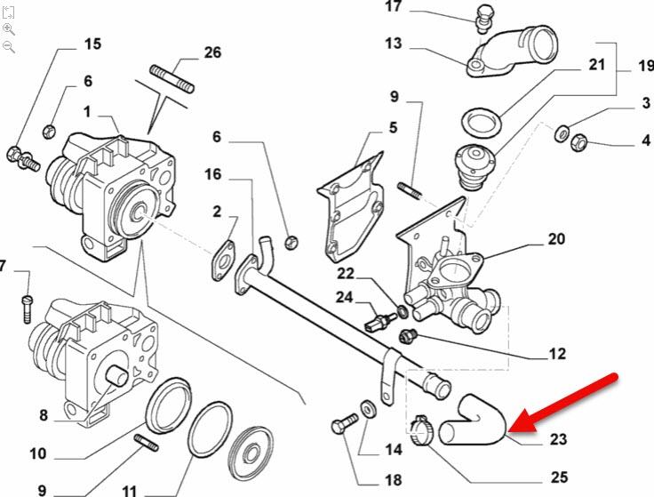 Kølerslange FIAT DUCATO kasse (230) 2.8 D 8140.63