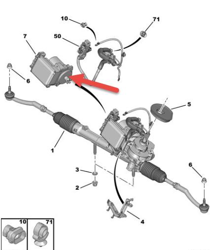 Servostyringsmodul PEUGEOT 207 SW (WK) 1.6 HDi 9HV (DV6TED4)