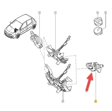 Lyskontakt RENAULT CLIO III (BR0/1, CR0/1) 1.6 16V (BR05