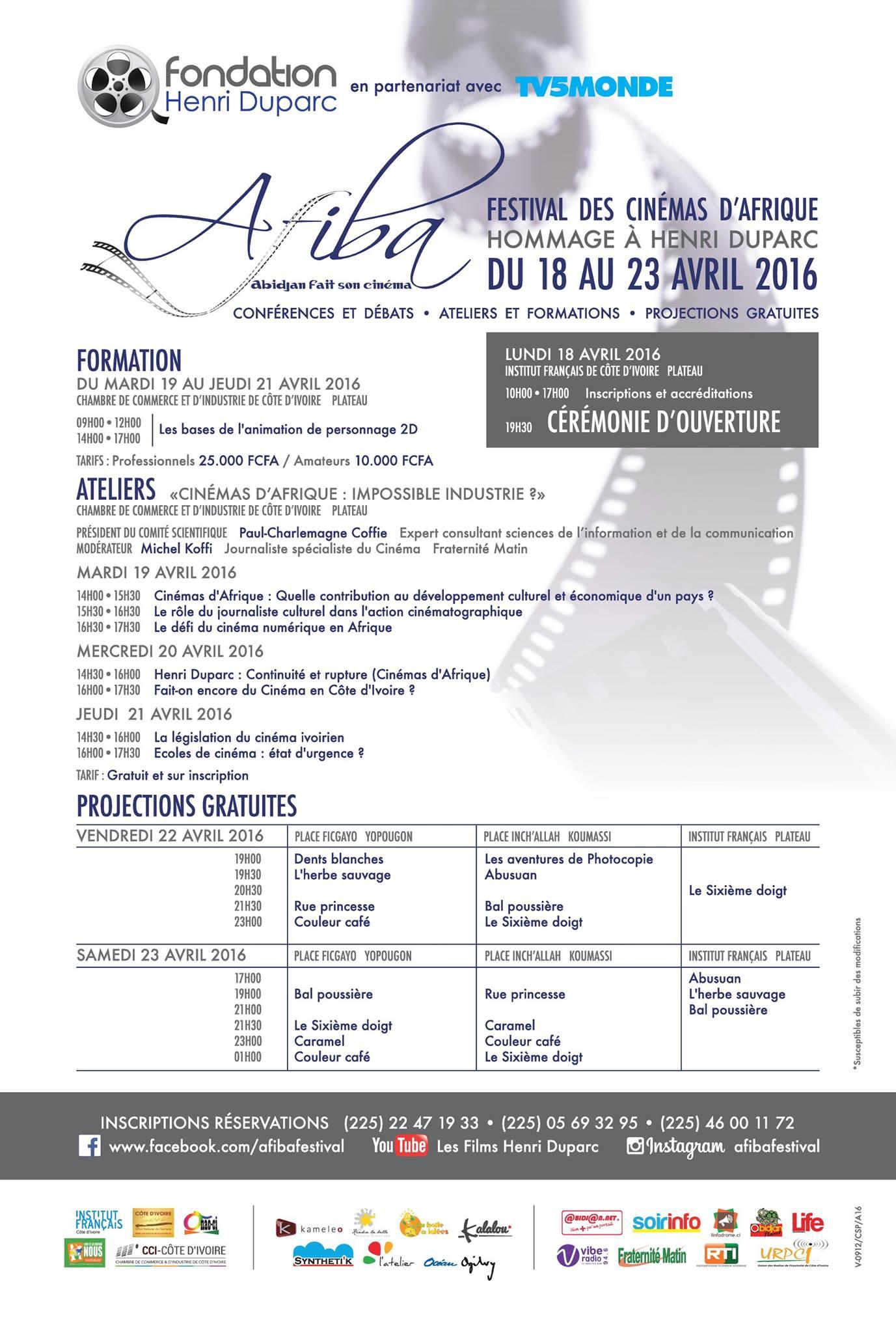 AFIBA – Ateliers sur le thème: «Cinémas d'Afrique: impossible industrie?»