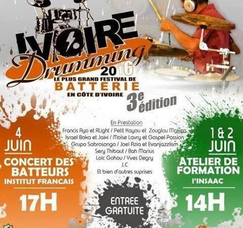 Ivoire Drumming Festival: La 3ème édition du plus grand festival de batterie en Côte d'Ivoire sera un hommage à Pepito, batteur du groupe Magic System récemment décédé
