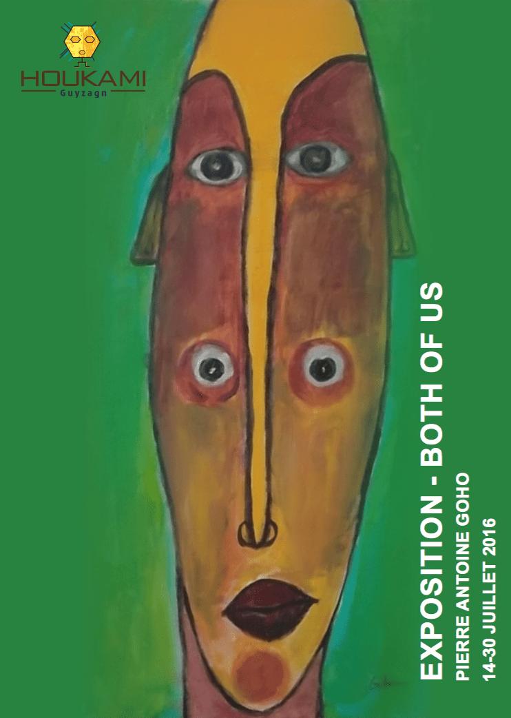 Pierre Antoine Goho en vernissage à la Galerie Houkami