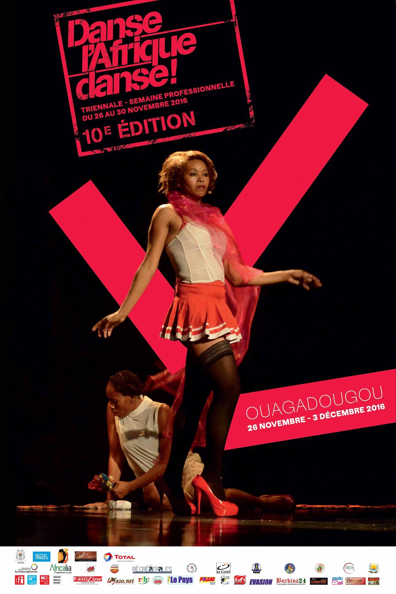 Danse l'Afrique Danse! – Triennale de Ouagadougou du 26 au 30 novembre 2016