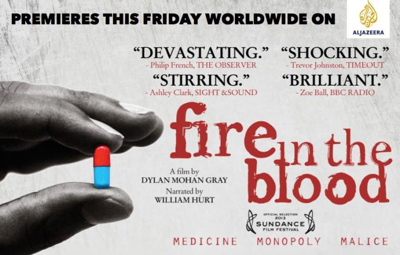 Fire in the Blood de Dylan Mohan Gray projeté ce mercredi 25 janvier 2017 à 15h à l'IFCFI d'Abidjan