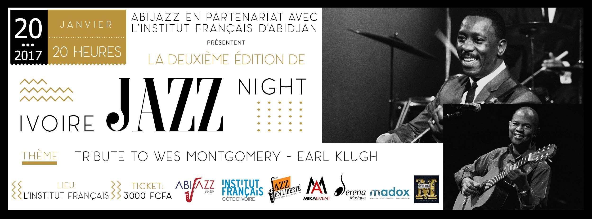 IVOIRE JAZZ NIGHT #2 – le 20 janvier 2017 à 20h à Institut Français de Côte d'Ivoire