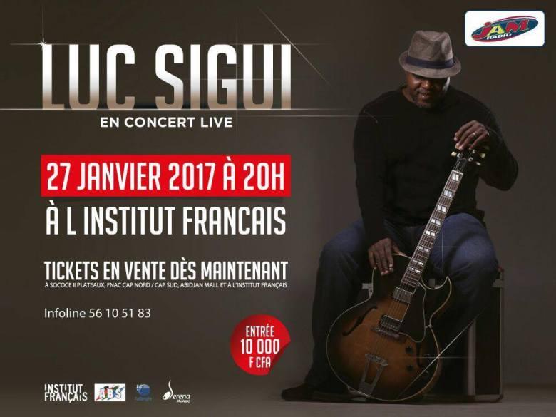 Luc Sigui en concert ce vendredi 27 janvier 2017 à l'IFCI dès 20h00