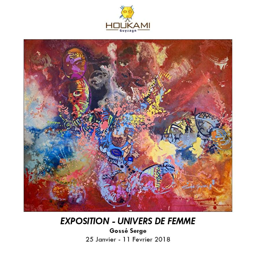A Abidjan,  Serge Gossé nous convie à sa première exposition personnelle : «Univers de femme»