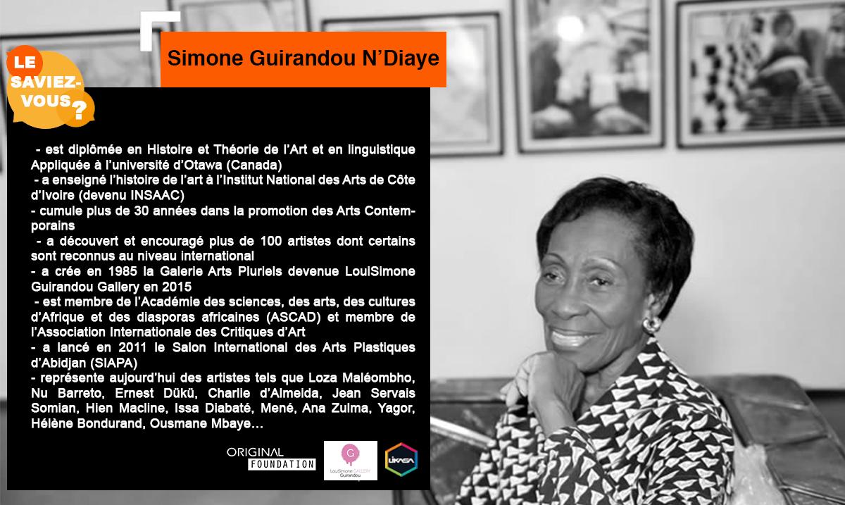 Le Saviez-vous ? : Découvrons Simone Guirandou N'Diaye
