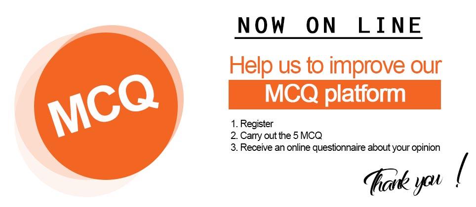 The MCQ platform is now online  – La plateforme de QCM est en ligne