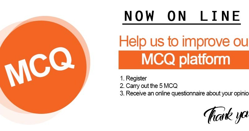 The MCQ platform is now online  – La plateforme de QCM est en ligne