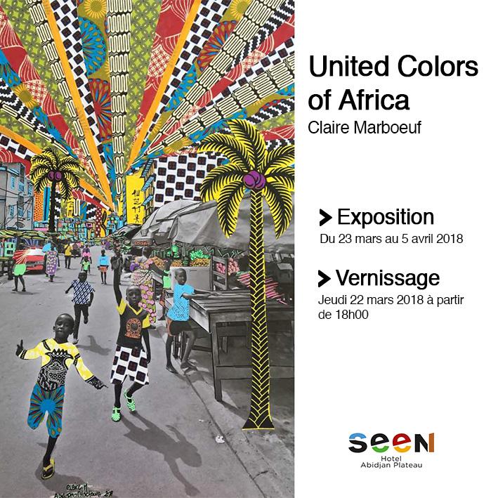 United Colors of Africa de Claire Marboeuf sera présenté du 23 mars au 5 avril au Seen Hotel Abidjan Plateau
