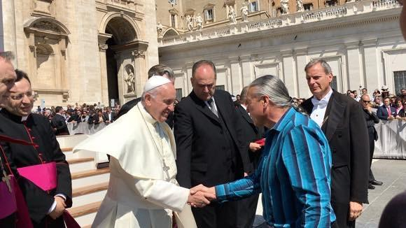 Face to Face with Pope Francis to Get the Inter Caetera Papal Bull Revoked