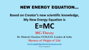 Energy equation of Dr Mukesh Chauhan
