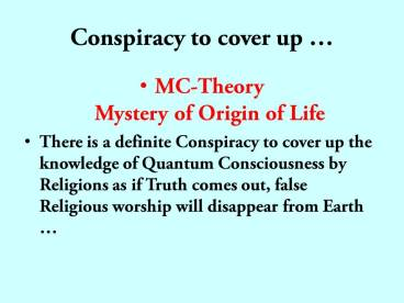 Conspiracy to cover up God's name by religions