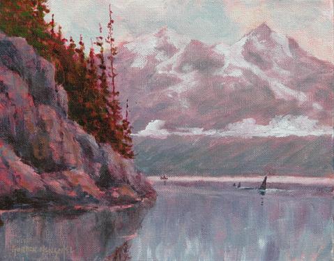 Morning Has Broken - Acrylic on Canvas  20x25 cm. (8x10 in.) $195 unframed