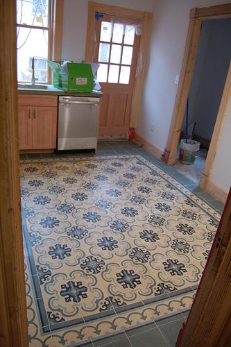 cement tile kitchen pantry storage units tiles floors by original mission