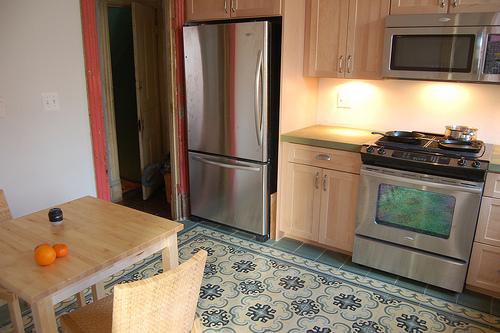 Cement tiles kitchen floors original mission tile for Cement tiles for kitchen