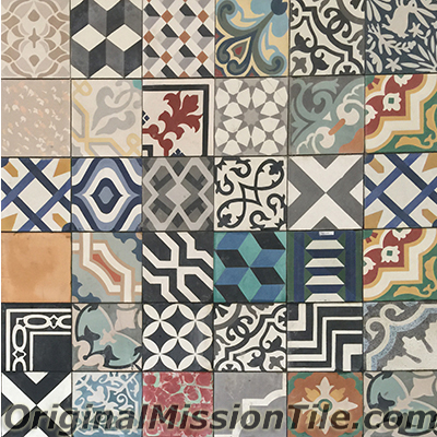 Patchwork cement tiles in stock