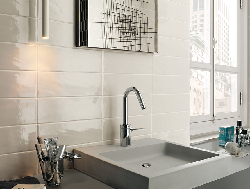 manhattan pearl subway bathroom splashback tile Original Mission Tile
