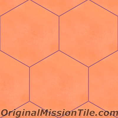Cement Tile in Stock | Hexagonal Terra-Cotta Solid color 8
