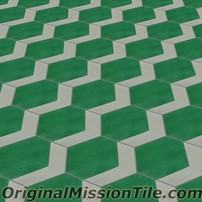 hexagonal cement tiles