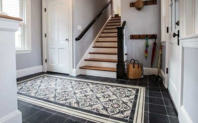 How To Create Cement Tile Rug Design In Home