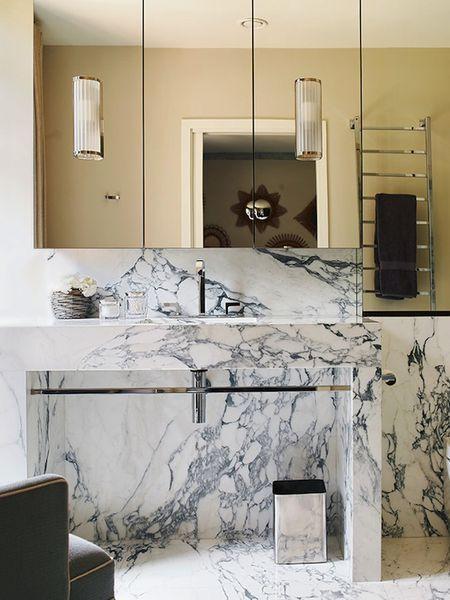 Chrome and Marble Bathroom
