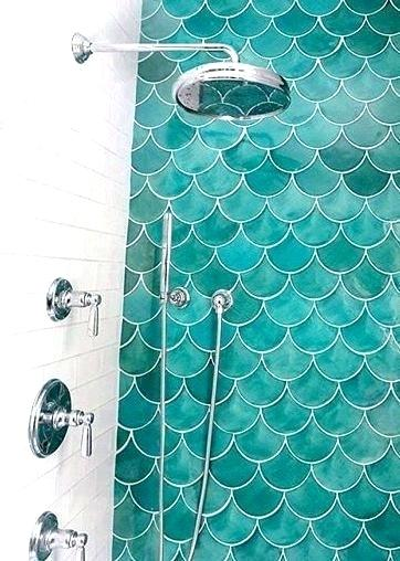8 Beautiful Bathrooms That Use Moroccan Fish Scale Tile