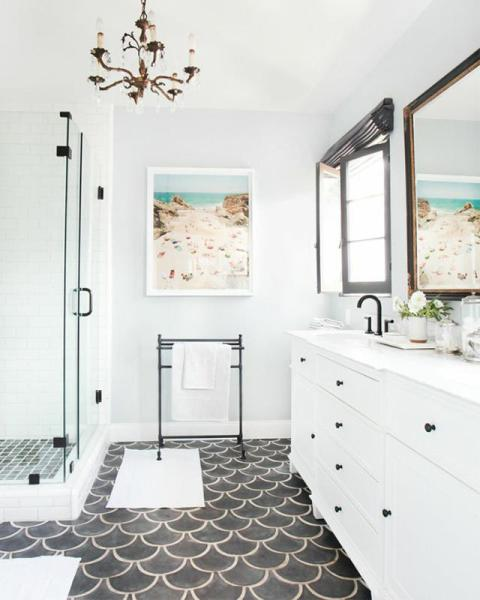 moroccan fish scale tile, Minimal and Matte Look,