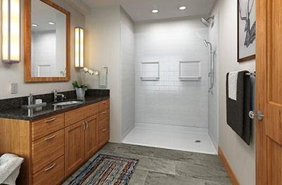 beautiful shower tile