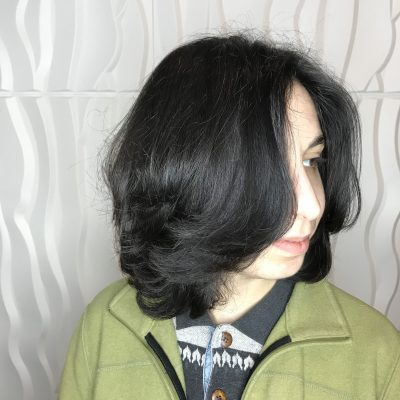Bob haircut on black hair