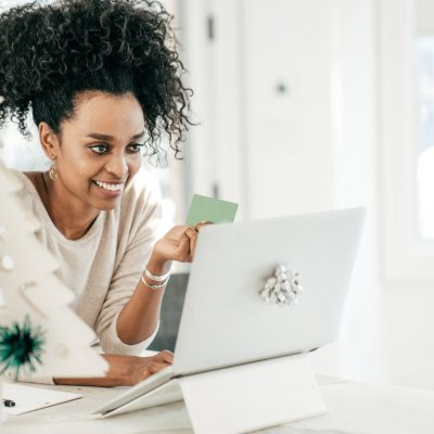 Women buying gifts online