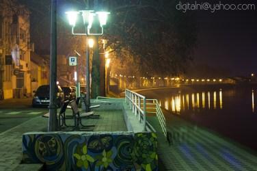 Hladna noć u Slavonskom Brodu.