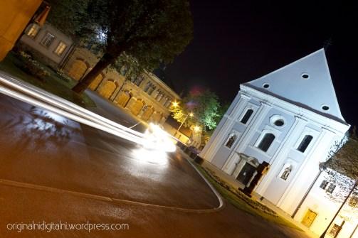 Velika crkva i Vatrogasni dom.