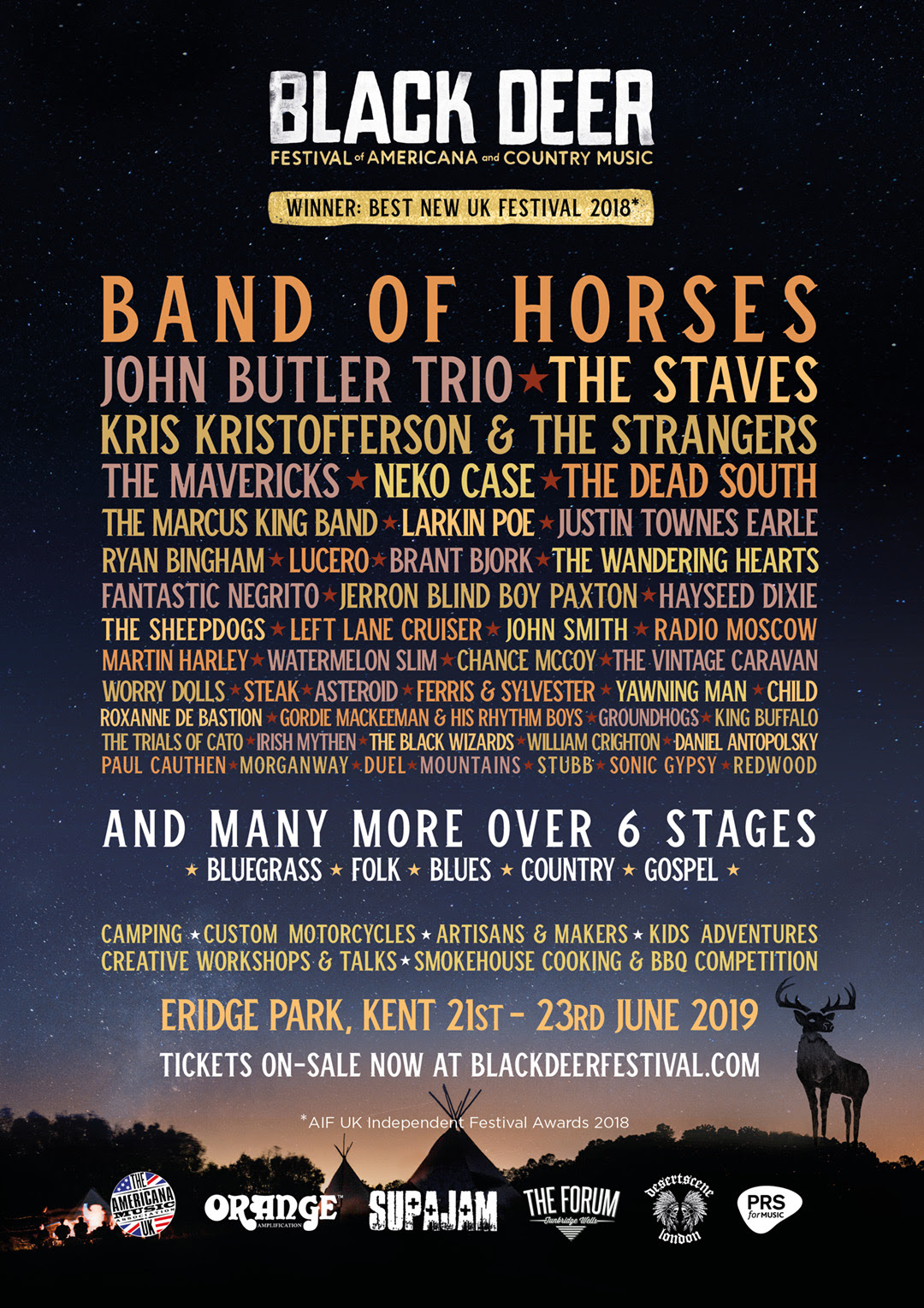 The Staves, Kris Kristofferson & The Strangers, The