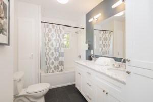 Bathroom Remodel with Tub/Shower Combo, Double Vanity, Toilet and Additional Storage Cabinets