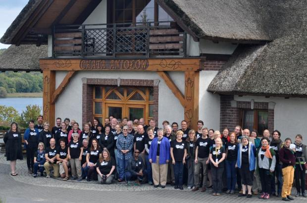 Sacred Harp singers from eleven countries, including a sizable contingent from the United States, attended Camp Fasola in northern Poland in September, 2014. Photograph by Olgierd Orlikowski.