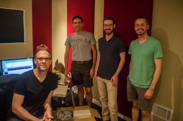 Michael Graves of Osiris Studio with Nathan Rees, Jesse P. Karlsberg, and Jonathon Smith.