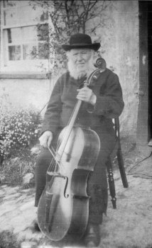 Thomas Thomas, a West Gallery musician from Cornwall, with his bass viol, late nineteenth century.