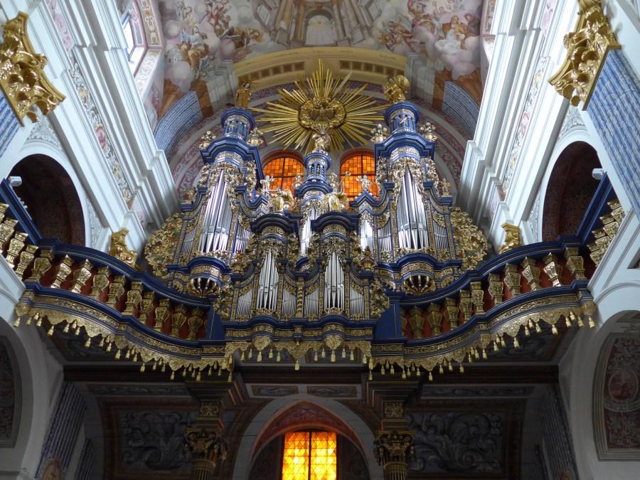 Organ detail, Pilgrimage Church Our Dear Lady of Swieta Lipka. Photograph by Kathy Williams.