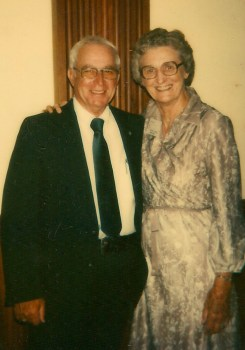 "Ruth Brown (right) with Jasper ""Jap"" Walton, at the first National Sacred Harp Convention, 1980. Photograph courtesy of the Sacred Harp Museum."