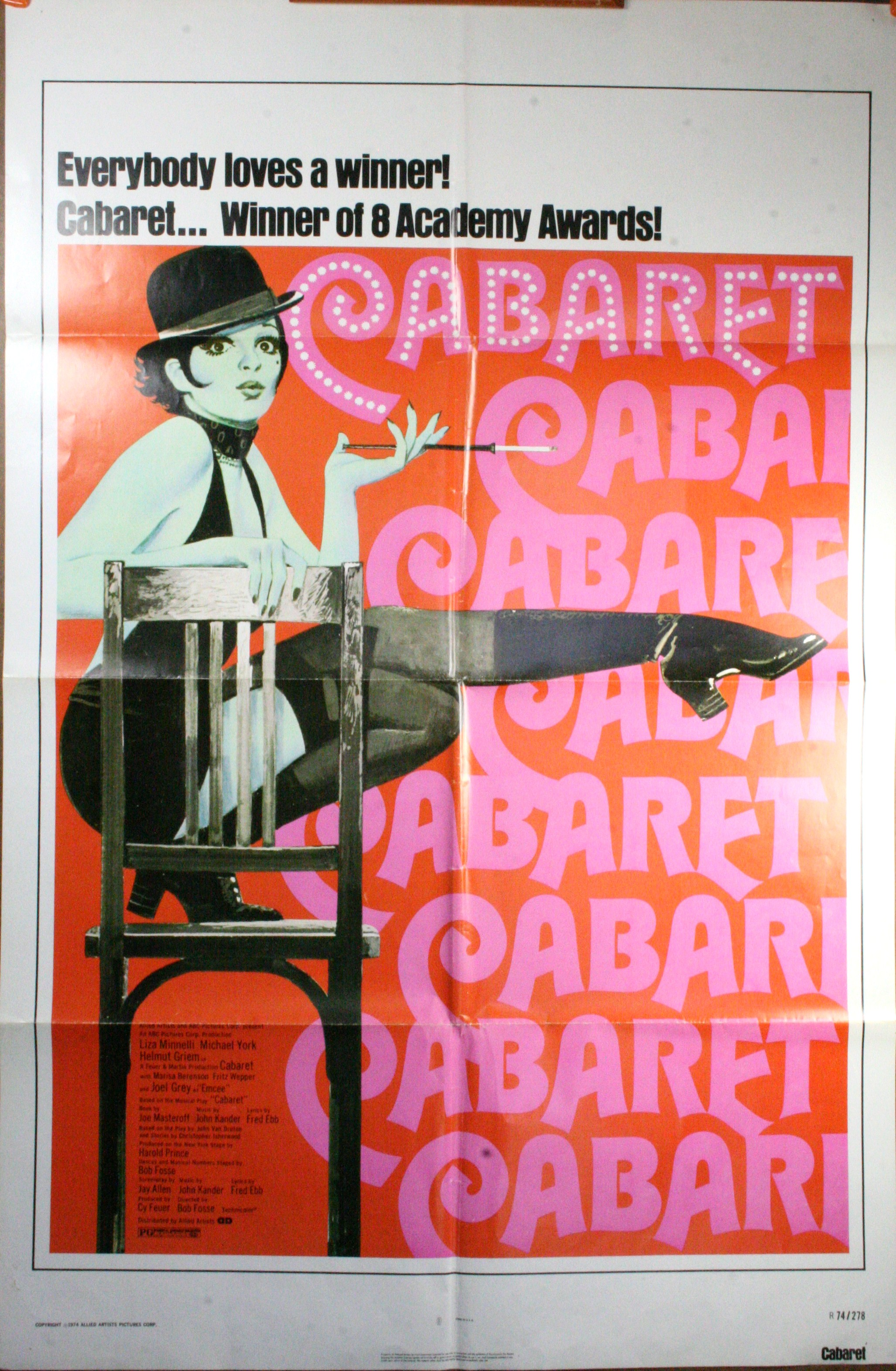 CABARET Liza Minelli Musical Poster